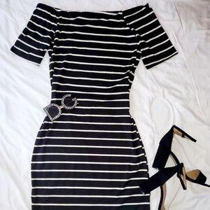 Off the shoulder midi dress
